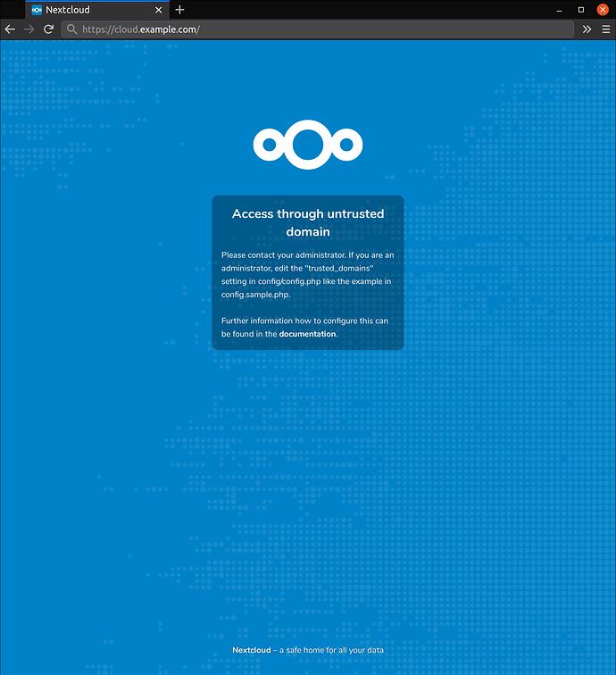 nextcloud-access