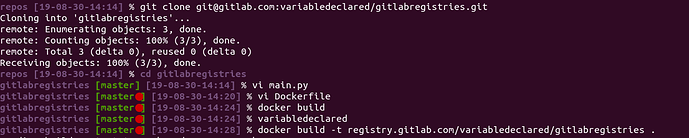 Terminal on open on the repository