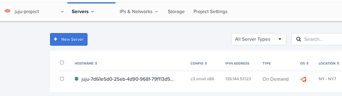 bootstrap machine 0 in Equinix Metal console